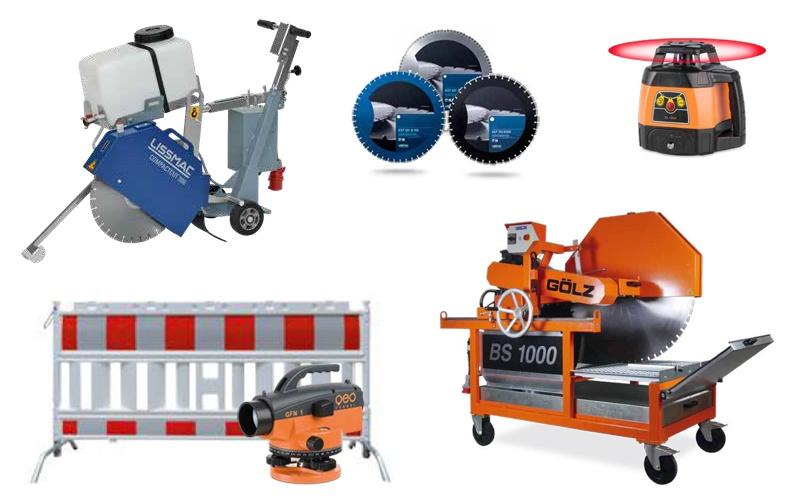 Auswahl von Handelswaren für den Baubedarf